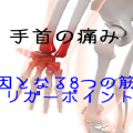 手首の痛みを引き起こす8つの筋肉とトリガーポイント